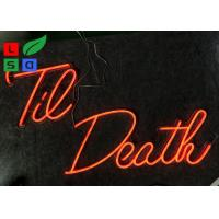 Window Hanging Red Color Remote Control LED Neon Illuminated Signs For Wedding, Party Manufactures