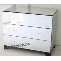 35 Inches Mirrored Nightstand And Dresser SetFor Hotel / Home Bedroom Manufactures