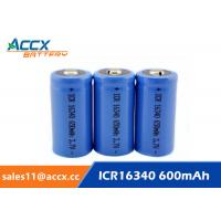 16340 650mAh 3.7V li-ion battery / cylindrical rechargeable battery for LED flashlight Manufactures