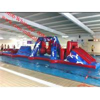 wipeout inflatable water obstacle course inflatable floating obstacle Manufactures