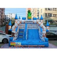 Flame Resistant Giant Commercial Inflatable Slide / Inflatable Bouncers With Slide Manufactures
