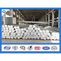 35FT 3mm Thick Q345 Galvanized Metal Pole Electric Steel Poles 500KGF Load Manufactures