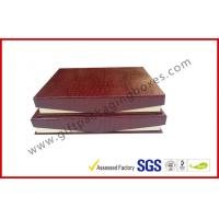 Quality Leather Magnetic Box Customized Crocodile Leather Paper  Satin Covered Foam for sale