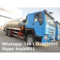 Good price factory direct sale 10 to 15 cbm HOWO 6*4 asphalst spraying truck, bitumen distributing truck for sale Manufactures