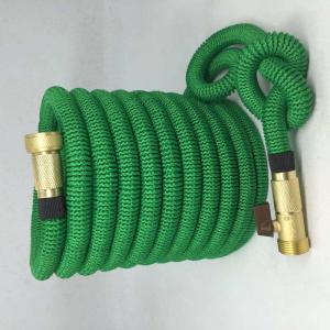 Amazon hot sale Expandable Garden hose,50FT strongest garden hose, brass quick coupling, green color Manufactures
