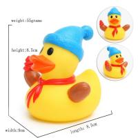 Eco - Friendly Children Toy Collectible Rubber Ducks Christmas Ornament 7cm Height Manufactures