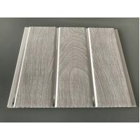 Double Middle Groove 25cm Decorative PVC Panels With Wooden Printing Manufactures