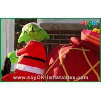 Promotional Inflatable Christmas Decoration With A Dog , Oxford Cloth or PVC Manufactures