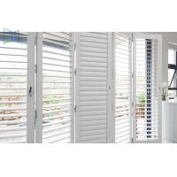 Quality Sun Shade Movable Sliding Aluminium Louvre Windows with Lockable Handle for sale