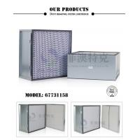 Steel Frame Panel Pleated Air FiltersFirst Stage Polyester Material Manufactures
