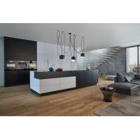 Latest Modular Fashional High Gloss Waterproof Lacquer Kitchen Cabinet with islands Manufactures