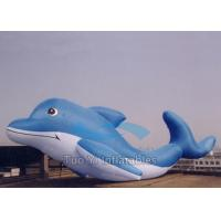 Quality Ocean Park Cartoon Custom Designed Balloons Helium , Large Inflatable Dolphin for sale