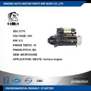 DEUTZ- Engine Commercial Car Parts Auto Starter Motor M93R3004SE Manufactures