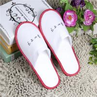 Buy cheap 5 Star Hotel Room Slippers White Anti Slip Terry SPA Slippers For Indoor from wholesalers
