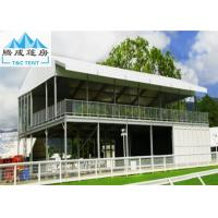 Double Decker Outdoor Exhibition Tent Cube Structure With Glass Door Manufactures