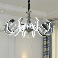 Buy cheap Fancy big acrylic bead chrome Led chandelier For Kids Children Room Lighting (WH from wholesalers