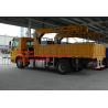 Sinotruk Howo 4x2 Crane Mounted Truck , 5-10 Ton Xcmg Telescopic Boom Crane Manufactures