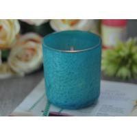 Beautiful Wedding Gift Feather Painted Glass Candle Holders Decorative Candle Jars Manufactures