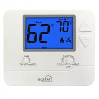 HVAC Digital Non Programmable Thermostat Blue Backlight LCD Display Manufactures