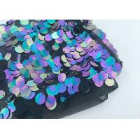 Multi 18mm Large Colorful Sequin Fabric Designing Clothing Iridescent Color Manufactures