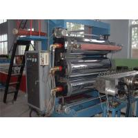 Plastic Sheet Extruder Machine , Double Screw Bule Plastic PVC Sheet Production Line Manufactures