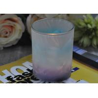 Unique Design Glass Candle Holders Feather Painted Candle Glass Jars Manufactures