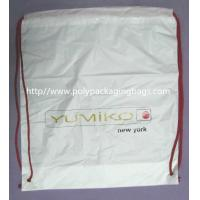 White Lightweight Durable Drawstring Storage Bags With Two PP Drawstring Manufactures