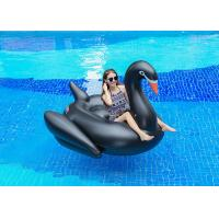 Semicircle Inflatable Pool Floats Black Color Giant Inflatable Swan Pool Float Manufactures