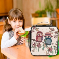 Owl Oxford Insulated Tote Lunch Bag With Shoulder Strap Manufactures