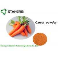 100% Pure Vegetable Extract Powder , Organic Carrot Juice Powder With Vitamin B1 Manufactures