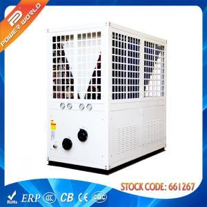 R407C EVI High Efficiency Commercial Heat Pumps Hot water Heat Pump , White Color Manufactures