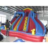 Outdoor Kids Inflatable Water Park With Slide / Inflatable Water Slide PVC Tarpaulin Manufactures