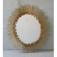 Oval Iron Mirror Wall Decor , 76 * 100cm Bathroom Mirror Wall Stickers Decor Manufactures