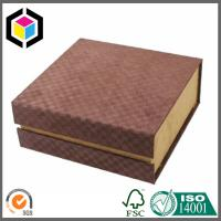 Brown Color Printing Luxury Gift Box; Rigid Chipboard Gift Paper Packaging Box Manufactures