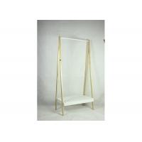 White 75cm Long 160cm High Coat Rack With Shoe Bench Manufactures
