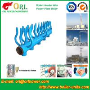 SA213T22 Furnace Water Header / Steam Boiler Header TUV Certification Manufactures