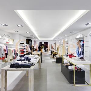 Hot Sale! Interior Retail Design Clothes Rack Shop Fittings Manufactures