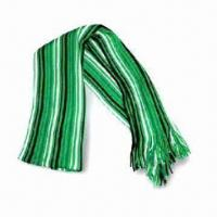 Knitted Scarf with Stripes, Made of 100% Acrylic, Suitable for Ladies Manufactures