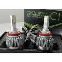 6000 Lumen 12 Volt LED Headlight Bulbs H8 / H9 / H11 COB Fanless 6000K Manufactures