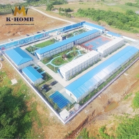 China OEM Container House Labor Camp Portable Accommodation For Construction Workers on sale