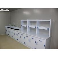 China Epoxy Resin Countertop Science Lab Tables , PP Lab Systems Furniture With PP Drawer on sale