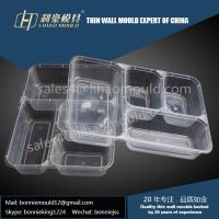 2/3/4/5/6 compartments high speed thin wall lunch box mould solution Manufactures