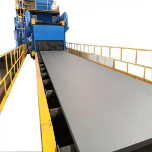 0.5-1.5 M/Min Q6910 Roller Conveyor Shot Blasting Machine H Beam And Steel Plate Manufactures