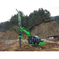 Stable Ground Bored Hole Pile Driving Machine KR50A Green Color Manufactures