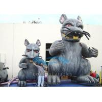 Heavy Duty PVC Inflatable Cartoon Characters Customized Rats For Parade Manufactures