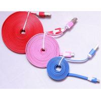 Quality 1M 3m data cable Noodle Flat USB 2.0 usb cable usb charging cables for iphone 5 for sale