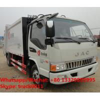 New JAC 4*2 garbage compactor bin lifter rubbish truck 5cbm capacity,customized JAC 5m3 compression garbage truck Manufactures