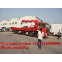 Quality hot sale best price dongfeng 8x4 LHD 14tons crane truck mounted crane, factory sale price dongfeng 14tons truck crane for sale