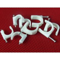 Wire Fastening  Round Nail Cable Clip PE and Steel Material White / Black Manufactures