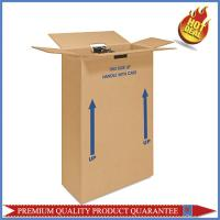 color print logo wardrobe corrugated packaging box with metal bar Manufactures